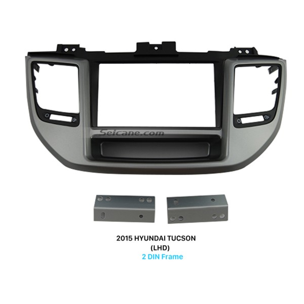 Exquisite Separate Double Din 2015 HYUNDAI TUCSON LHD Car Radio Fascia Dash CD Audio Player Refitting Frame Car Kits