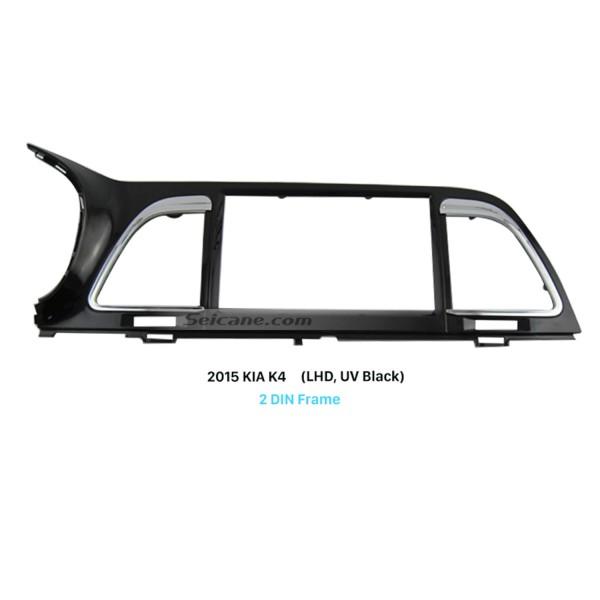 UV Black Double Din Car Radio Fascia for 2015 KIA K4 Left Hand Car Trim Installation Frame Surround Panel Face Plate