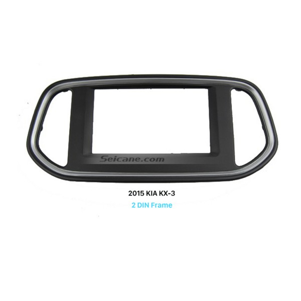Black Double Din Car Radio Fascia for 2015 KIA KX-3 Dash Mount Kit Adapter Install Frame Surround Panel