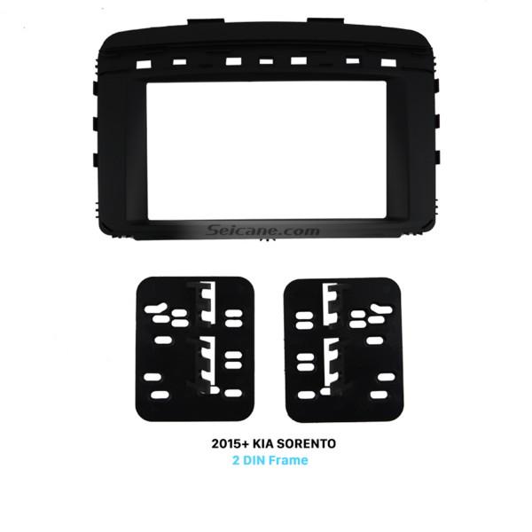 Great Double Din Car Radio Fascia for 2015+ KIA SORENTO Installation Trim Dash Kit Frame Panel Face Plate