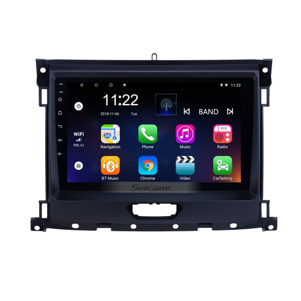 Android 10.0 9 inch HD Touchscreen GPS Navigation Radio for 2018 Ford Ranger with Bluetooth USB AUX support Carplay DVR SWC