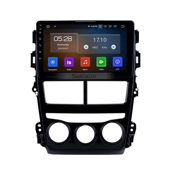 Android 10.0 HD Touchscreen 9 inch GPS Navigation Head unit for 2018 Toyota Vios/Yaris LHD Manual Air Conditioner Car Auto Stereo Bluetooth Phone Mirror Link Wifi FM RDS USB Backup Camera
