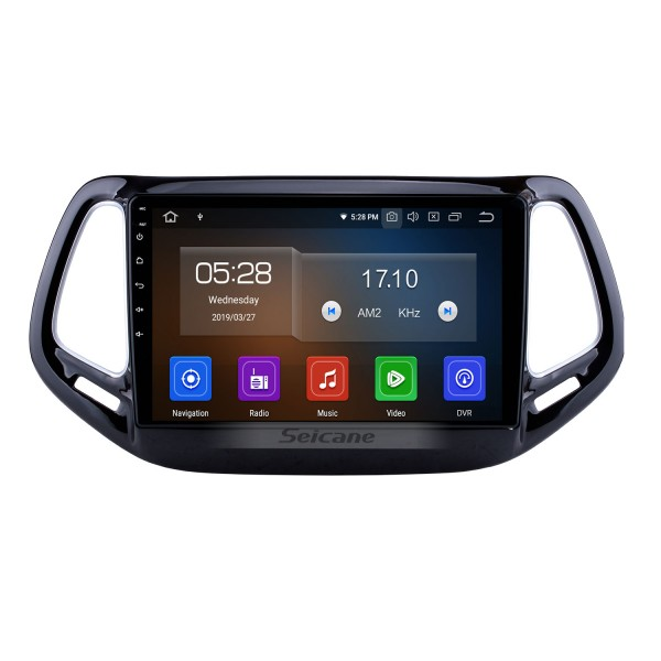 Android 9.0 GPS Navigation for 2017 Jeep Compass 10.1 inch HD Touchscreen Multimedia Radio Bluetooth MP5 music Mirror Link WIFI USB support 4G Carplay SWC OBD2 Rearview