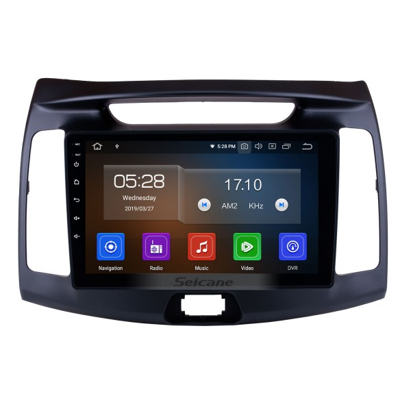 9 inch 2011-2015 Hyundai Elantra Android 9.0 HD Touchscreen GPS Navigation system Stereo in Dash Bluetooth Radio Support WIFI USB Phone Music SWC DAB+ Carplay 1080P Video