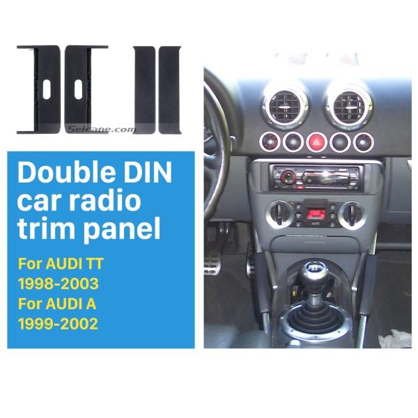 Exquisite 1Din 1998-2003 AUDI TT 1999-2002 AUDI A2 A4 Car Radio Fascia Frame Panel Stereo Dash Audio Cover