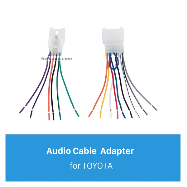 Auto Car Sound Plug Adaptor Audio Cable for TOYOTA Universal/BYD F3