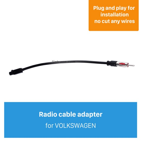 Top Car Radio Antenna Cable Plug Adapter for VOLKSWAGEN/New Ford