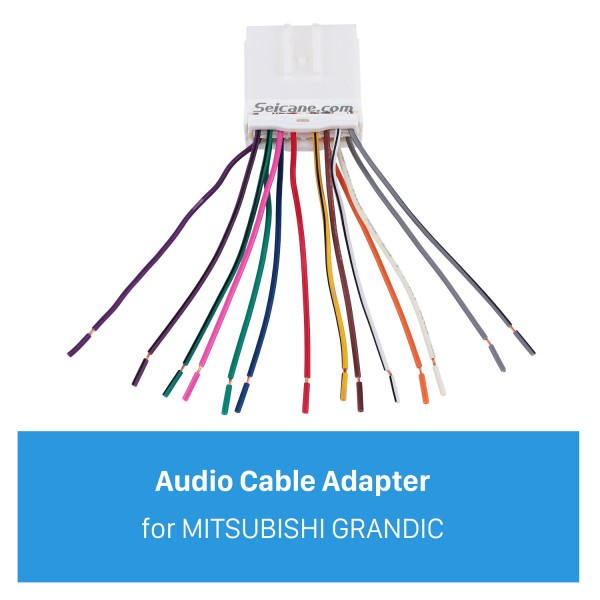 Top Wiring Harness Plug Adapter Audio Cable for MITSUBISHI GRANDIC