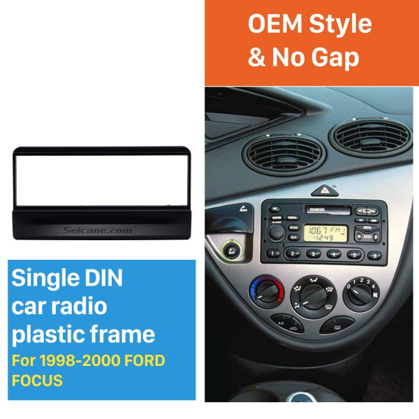 Great 1Din Car Radio Fascia for 1998-2000 Ford Focus DVD Frame Stereo Install In Dash Mount Kit