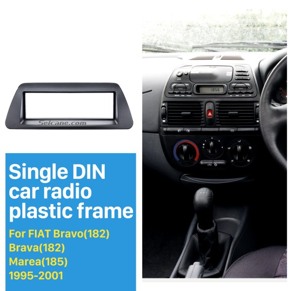 Perfect 1Din Car Radio Fascia for 1995-2001 FIAT Bravo 182 Brava 182 Marea 185 Panel Frame Audio Cover Trim Bezel