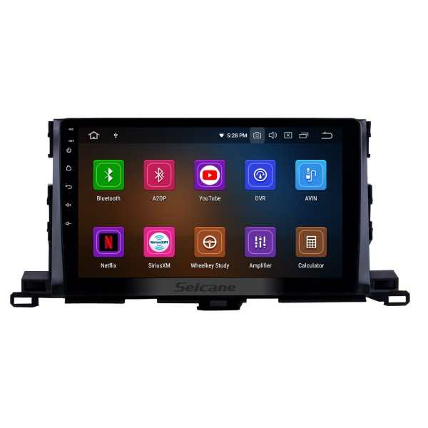 10.2 Inch 2014 2015 2016 Toyota Highlander Android 6.0 Capacitive Touch Screen Radio GPS Navigation system with Bluetooth TPMS DVR OBD II Rear camera AUX USB 3G WiFi Steering Wheel Control Video
