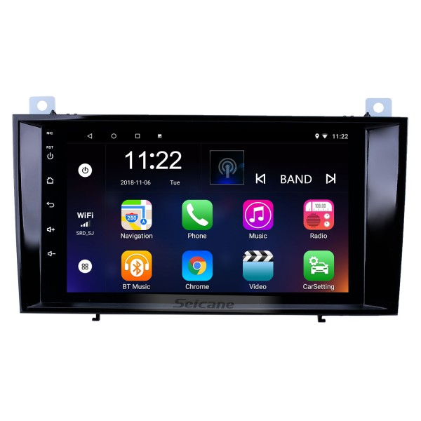 8 inch Android 10.0 HD Touchscreen GPS Navigation Radio for 2000-2011 Mercedes Benz SLK class R171 SLK200 SLK280 SLK300 with Bluetooth WIFI AUX support Carplay Mirror Link
