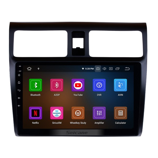 Aftermarket Radio 10.1 inch Android 10.0 GPS Navigation For 2005-2010 SUZUKI SWIFT Mirror Link Bluetooth WIFI Audio Support Rearview Camera 1080P Video DVR DAB+ DVD Player