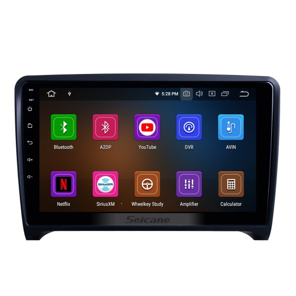 9 inch For 2006 2007 2008-2013 Audi TT Radio Android 10.0 GPS Navigation System with Bluetooth HD Touchscreen Carplay support Digital TV