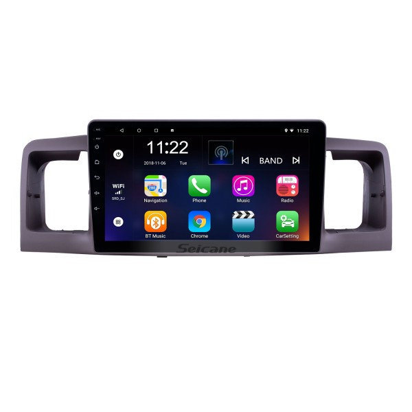HD Touchscreen 9 inch Android 10.0 GPS Navigation Radio for 2006-2013 Toyota Corolla with Bluetooth AUX support Carplay DAB+ OBD