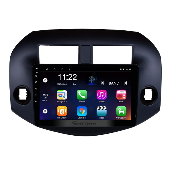 OEM Android 10.0 Radio for 2007-2011 Toyota RAV4 10.1 inch HD Touch Screen Bluetooth GPS Navigation USB WIFI Music SWC OBD DVR Rearview Camera TV