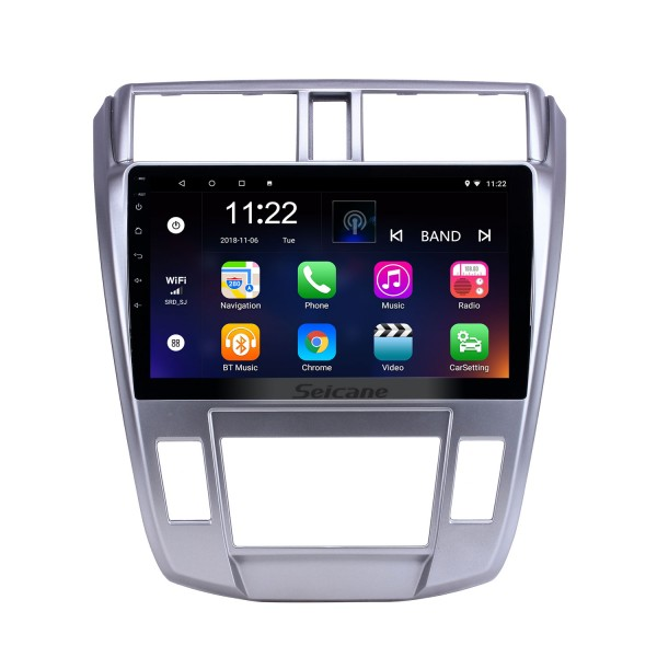 10.1 inch GPS Navigation Radio Android 10.0 for 2008-2013 Honda City Auto A/C With HD Touchscreen Bluetooth support Carplay Backup camera