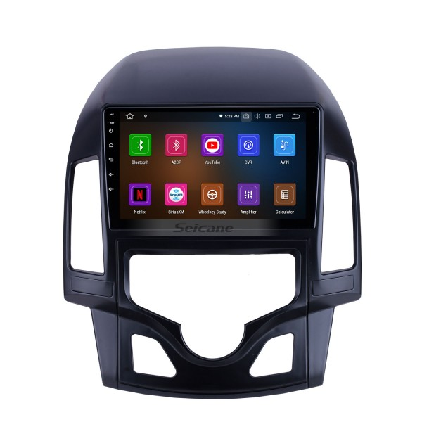 9 inch For 2008 2009 2010 2011 Hyundai i30 LHD Auto A/C Radio Android 10.0 GPS Navigation System Bluetooth HD Touchscreen Carplay support OBD2