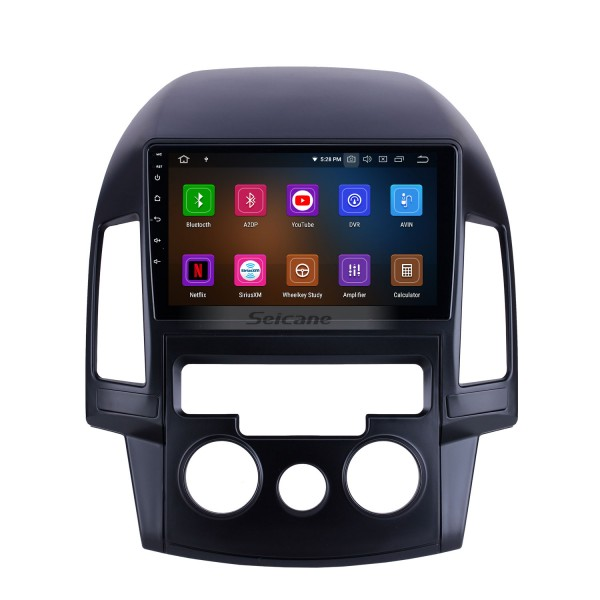 Android 10.0 For 2008 2009 2010 2011 Hyundai i30 LHD Manual A/C Radio 9 inch GPS Navigation System Bluetooth HD Touchscreen Carplay support SWC
