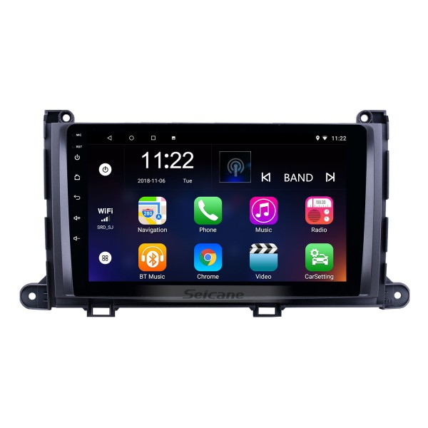 HD Touchscreen 9 inch Android 10.0 GPS Navigation Radio for 2009-2014 Toyota Sienna with Bluetooth AUX Music support DVR Carplay Steering Wheel Control