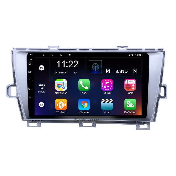9 inch Android 10.0 HD 1024*600 Touch Screen Radio for 2009-2013 Toyota Prius Left hand driver GPS Navigation Bluetooth Music WiFi Mirror Link Rearview Camera AUX