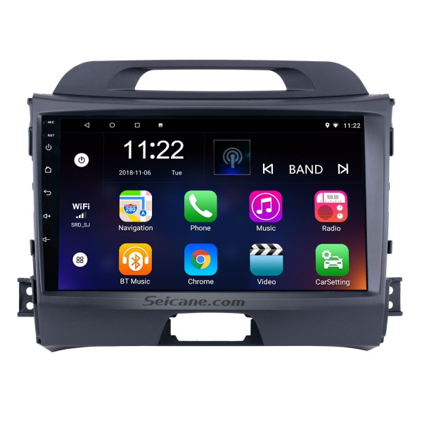 9 inch HD 1024*600 Touchscreen Radio for 2010-2015 KIA Sportage Android 6.0 with GPS Navigation Audio system Bluetooth Music USB Aux WIFI 1080P TV Mirror Link DVR