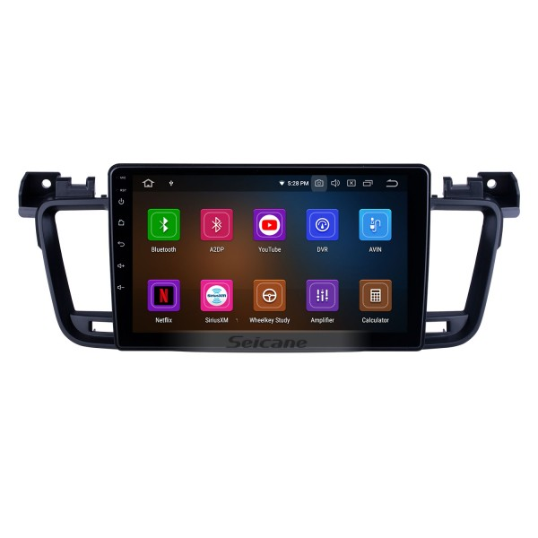 OEM 9 inch Android 10.0 for 2011 2012 2013-2017 Peugeot 508 Radio with Bluetooth HD Touchscreen GPS Navigation System Carplay support DSP