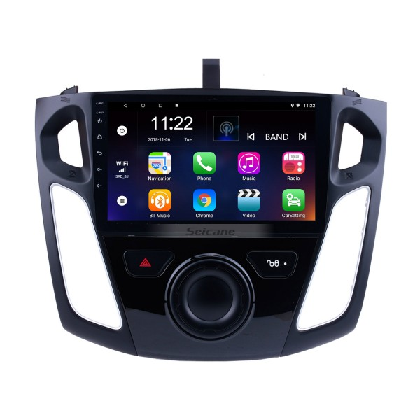 9 inch Android 10.0 GPS Navigation HD 1024*600 Touchscreen Radio for 2011 2012-2015 Ford Focus with Bluetooth WIFI 1080P USB Mirror Link OBD2 DVR Steering Wheel Control