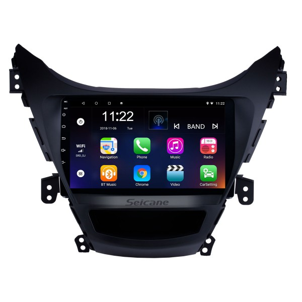 9 Inch OEM Android 10.0 Navigation System Bluetooth For 2011 2012 2013 Hyundai Elantra With Touch Screen DVD Player TV tuner Remote Control Radio