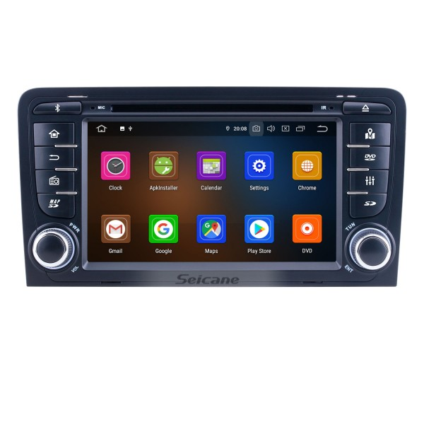 HD Touchscreen 7 inch Android 10.0 for 2011 Audi A3 Radio with GPS Navigation System Carplay Bluetooth support Digital TV