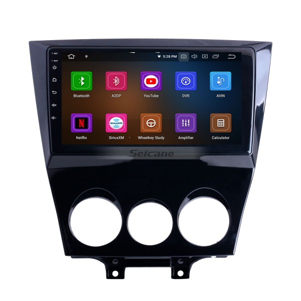 9 inch For 2011 Mazda RX8 Radio Android 10.0 GPS Navigation System with Bluetooth HD Touchscreen Carplay support Digital TV
