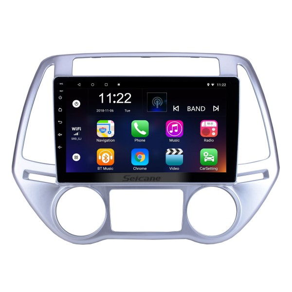 For 2012 2013 2014 Hyundai i20 Auto A/C Radio 9 inch Android 10.0 HD Touchscreen GPS Navigation System with Bluetooth support Carplay SWC