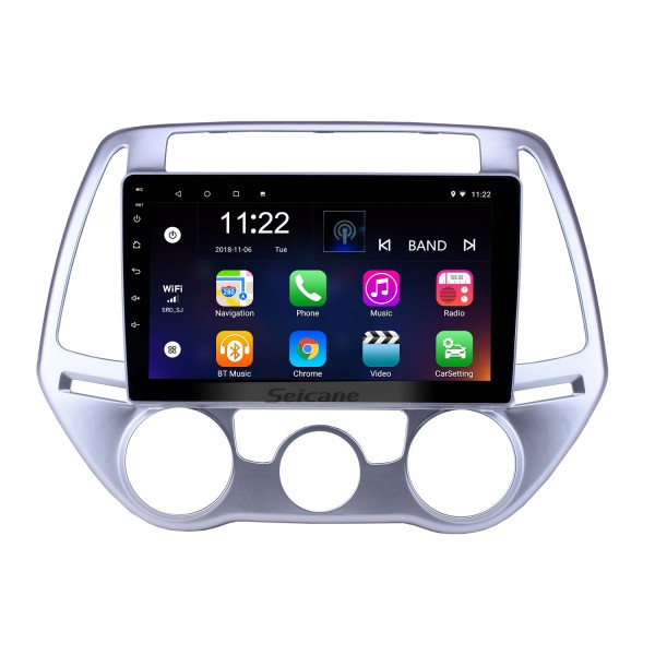 Android 10.0 9 inch HD Touchscreen GPS Navigation Radio for 2012-2014 Hyundai i20 Manual A/C with Bluetooth USB WIFI support Backup camera Carplay OBD