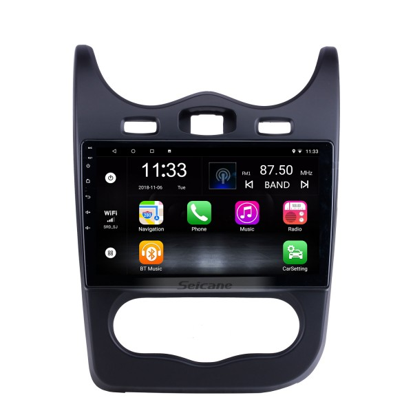 For 2014 Renault Sandero Radio 10.1 inch Android 10.0 HD Touchscreen GPS Navigation System with Bluetooth support Carplay