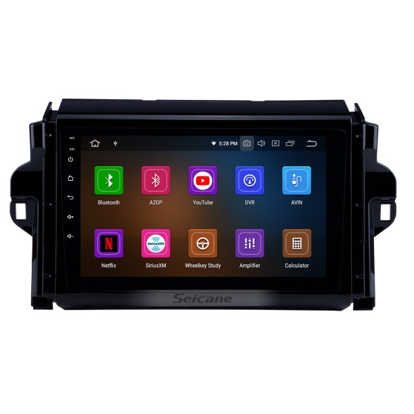 9 inch Android 10.0 HD Touchscreen auto stereo GPS Radio GPS Navigation System For 2015-2018 TOYOTA FORTUNER/ COVERT Bluetooth Support DVR Vedio Carplay 3G/4G WIFI Steering Wheel Control