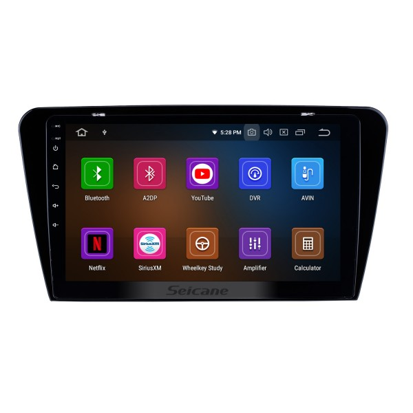 10.1 inch HD Touchscreen Radio GPS Navigation System Android 10.0 For 2015 2016 2017 SKODA Octavia UV Support Steering Wheel Control Backup Camera Bluetooth 3G/4G WIFI USB DVR OBD2