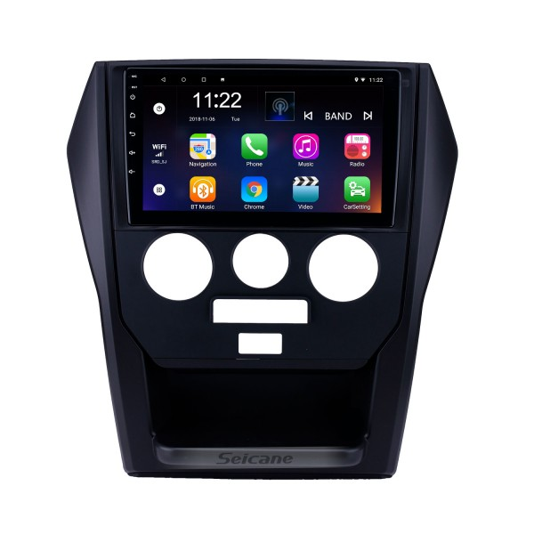 Android 10.0 9 inch Touchscreen GPS Navigation Radio for 2015 Mahindra Scorpio Manual A/C with Bluetooth USB WIFI support Carplay SWC Rear camera
