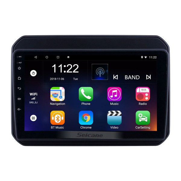 HD Touchscreen 9 inch Android 10.0 GPS Navigation Radio for 2016-2018 Suzuki IGNIS with Bluetooth USB WIFI AUX support Carplay 3G Backup camera TPMS