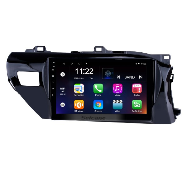 OEM HD Touchscreen 10.1 inch Android 10.0 Radio for 2016-2018 Toyota Hilux RHD Bluetooth GPS Navi Head unit Steering Wheel Control 3G WIFI Mirror Link TPMS USB FM