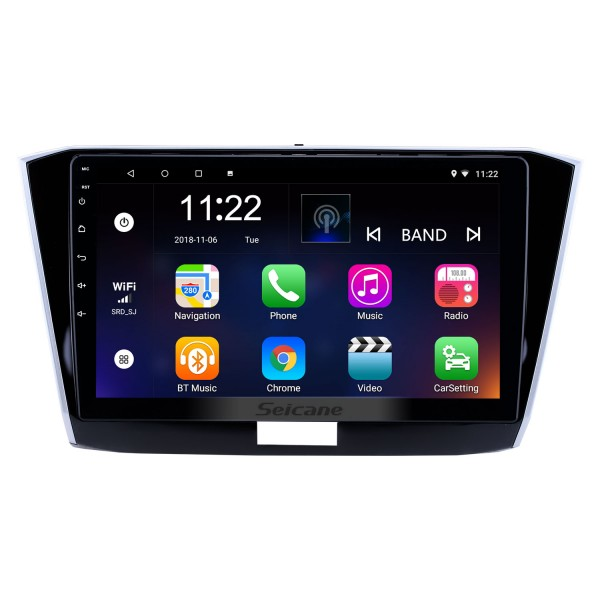 10.1 inch Android 10.0 GPS Navigation Radio for 2016-2018 VW Volkswagen Passat with HD Touchscreen Bluetooth USB support Carplay TPMS