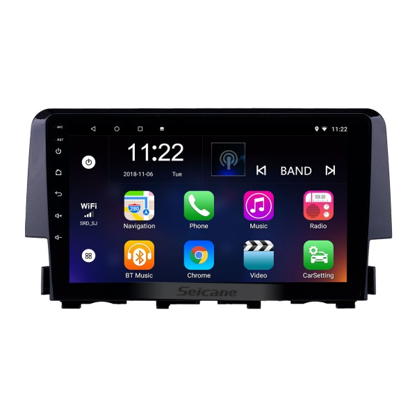 OEM 9 inch Android 10.0 Radio for 2016 Honda Civic Bluetooth Wifi HD Touchscreen GPS Navigation support Carplay DVR OBD Rearview camera