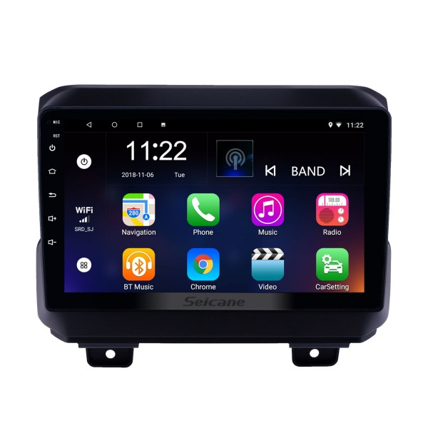 9 inch Android 10.0 GPS Navigation Radio for 2018 Jeep Wrangler with Bluetooth WIFI USB AUX HD Touchscreen support Carplay DVR OBD