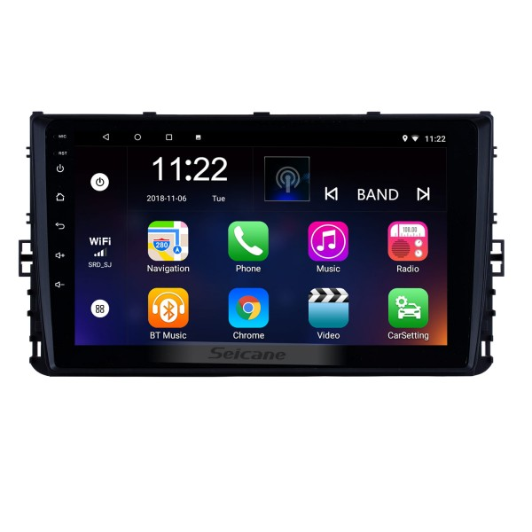 OEM 9 inch 2018 VW Volkswagen Universal Android 10.0 HD Touch Screen GPS Navigation System Radio Support TPM DVR 3G WiFi Carplay Remote Control Bluetooth