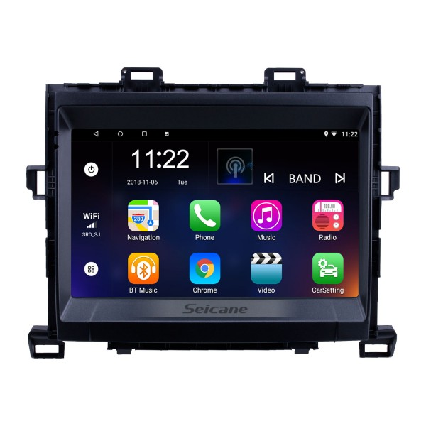 8 Inch 2009-2014 Toyota ALPHARD/Vellfire ANH20 Android 10.0 Radio GPS Navigation system with 3G WiFi Capacitive Touch Screen TPMS DVR OBD II Rear camera AUX Steering Wheel Control USB Bluetooth HD 1080P Video