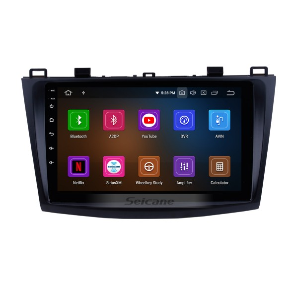 9 inch Android 10.0 Autoradio Stereo for 2009 2010 2011 2012 MAZDA 3 GPS radio navigation system with Bluetooth Mirror link  HD touch screen OBD DVR  Rear view camera TV USB  3G WIFI