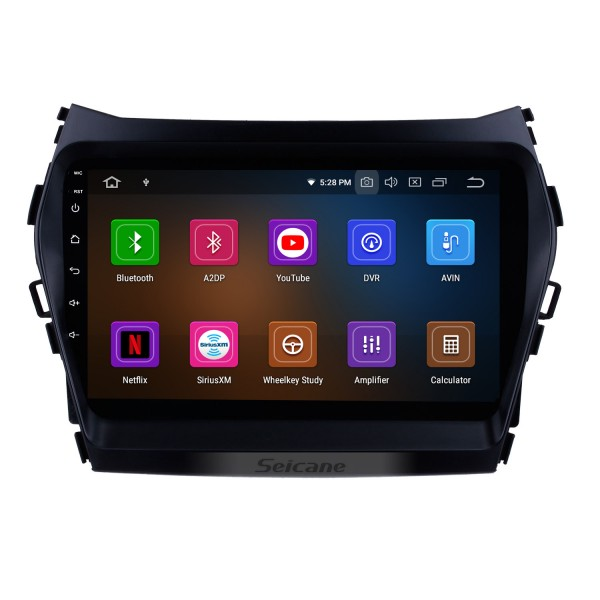 9 inch Android 10.0 2013 2014 2015 Hyundai Santa Fe IX45 GPS Navigation System HD Touch Screen 3G WiFi Rear camera AUX Steering Wheel Control USB Bluetooth 1080P OBDII TPMS DVR