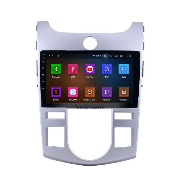 9 inch Android 10.0 Radio DVD player navigation system for 2008-2012 KIA FORTE/CERATO(AT) with Bluetooth GPS HD 1024*600 touch screen OBD2 DVR Rearview camera TV 1080P Video 3G WIFI Steering Wheel Control USB Mirror link