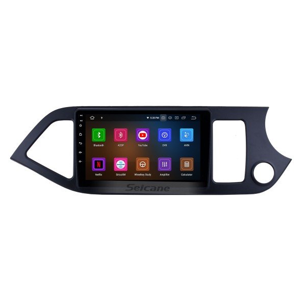 9 Inch Android 10.0 Radio GPS Navigation System Touch Screen For 2011-2014 KIA Morning RHD Bluetooth Support TPMS DVR OBD Mirror Link 3G WiFi TV Backup Camera Video