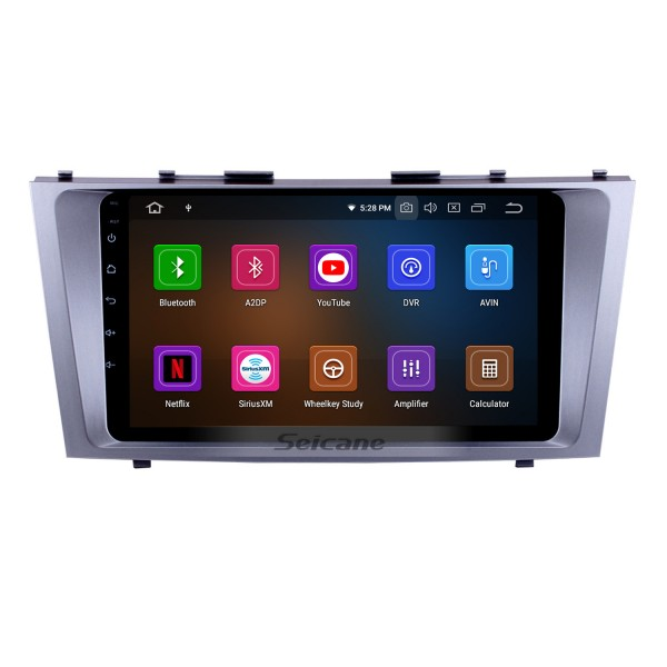 9 Inch OEM Android 10.0 Radio Capacitive Touch Screen For 2007-2011 Toyota CAMRY Support 3G WiFi Bluetooth GPS Navigation system TPMS DVR OBD II AUX Headrest Monitor Control Video Rear camera USB SD