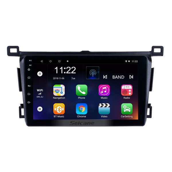Aftermarket 9 inch 2013-2018 Toyota RAV4 Right hand driving GPS Navigation System Android 10.0 Radio Touch Screen support TPMS DVR OBD Mirror Link Bluetooth 3G WiFi